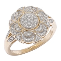 10K Yellow Gold 0.25 ctw Diamond Ring