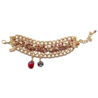 Rita Tesolin Smokey & Red Crystal Bracelet
