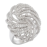 Bague Red Carpet en argent sterling avec similidiamants Diamonelle