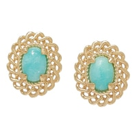 Jewellery of The Grand Bazaar Amazonite Stud Earrings