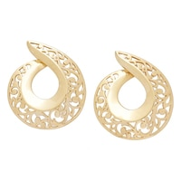 Jewellery of The Grand Bazaar Cut-Out Teardrop Swirl Stud Earrings
