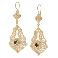 Jewellery of The Grand Bazaar Turkish Filigree Drop Earrings