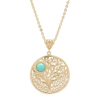 Jewellery of The Grand Bazaar Turquoise Tree Of Life Pendant & Chain