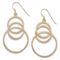 Sterling Silver Multi Circle Drop Earrings