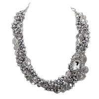 Rita Tesolin Decadence Necklace with Brooch