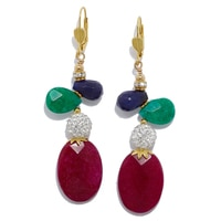 Pendants d'oreille ornés de cristaux « Casablanca » de Rita Tesolin