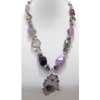 Rita Tesolin Heart Of Amethyst Necklace