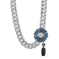 Collier à motif floral de cristal Rita Tesolin