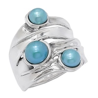 Hagit Jewellery Sterling Silver Cultured Button Freshwater Pearl Ring