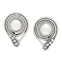 Hagit Designs Sterling Silver Cultured Freshwater Pearl Earrings