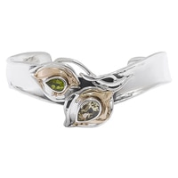Hagit Jewellery Sterling Silver Peridot & Lemon Quartz Cuff
