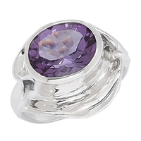 Hagit Designs Sterling Silver Amethyst Ring