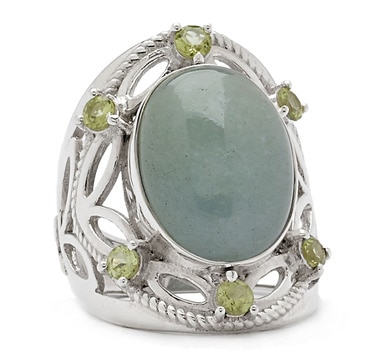 Himalayan Gems Sterling Silver Multi-Gemstone Ring