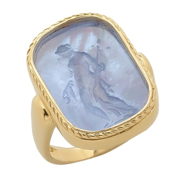 Vicenza Gold 14K Yellow Gold Muse Ring