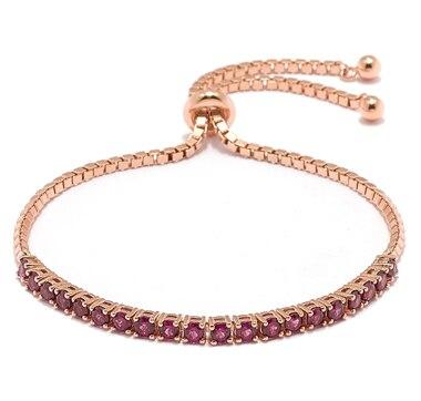 Gem Finds Sterling Silver Exotic Gemstone Adjustable Bracelet