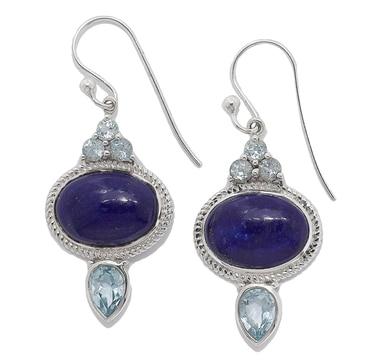 Himalayan Gems Sterling Silver Gemstone Earrings