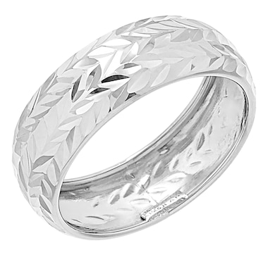 International Gold 10K Gold Diamond-Cut Stackable Ring