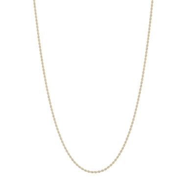 International Gold 10K Yellow Gold Satin Rope Chain Necklace