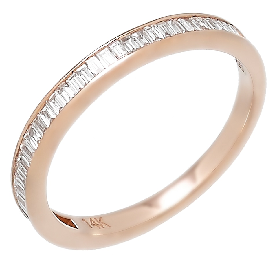 Image 452342.jpg , Product 452-342 / Price $1,249.99 , EFFY Jewellery 14K Rose Gold 0.44ctw Baguette Diamond Band Ring from Effy Jewellery on TSC.ca's Jewellery department