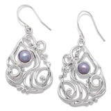 Hagit Designs Sterling Silver Cultured Freshwater Pearl Drop Earrings