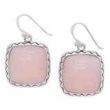 Barse Studio Sterling Silver Olivia Pink Opal Drop Earrings