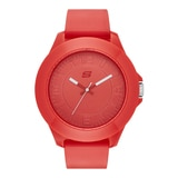 Skechers Men's Silicone Large Tonal Watch - Red