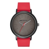 Skechers Men's Silicone Dial Watch - Red