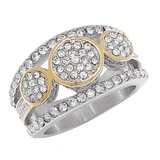 Emma Skye Two Tone Round Stone Station Ring