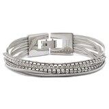 Emma Skye Multi Strand Crystal & Snake Chain Bracelet