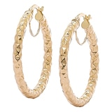 Stefano Oro 14K Gold Etrusca Hoop Earrings