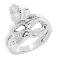Hagit Sterling Silver White Cultured Freshwater Pearl Ring