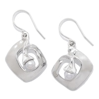 Hagit Sterling Silver Cultured Freshwater Pearl Earrings