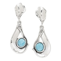 Hagit Sterling Silver Larimar Earrings