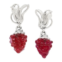Hagit Jewellery Sterling Silver Glass Bead Earrings