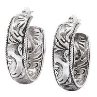 Barse Studio Sterling Silver Textured Earrings