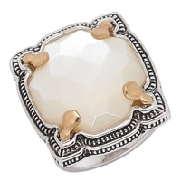 Barse Studio Sterling Silver Contessa Mother of Pearl Ring