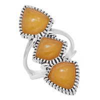 Bague Shielded en argent sterling et orné de quartz orange de Studio Barse