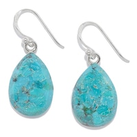 Barse Studio Sterling Silver Afghan Gemstone Drop Earrings