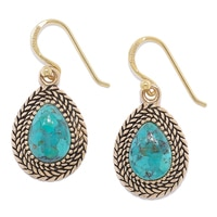 Barse Studio Stud Turquoise Drop Earrings