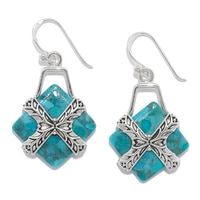 Barse Studio Sterling Silver Encompass Turquoise Earrings