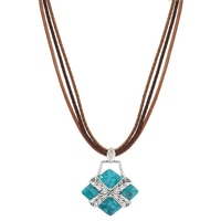 Barse Studio Sterling Silver Encompass Turquoise Pendant Necklace