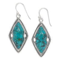 Barse Studio Sterling Silver Swoon Turquoise Drop Earrings