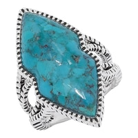 Barse Studio Sterling Silver Swoon Turquoise Ring