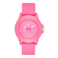 Skechers Ladies' Silicone Mid Size Tonal Watch - Pink