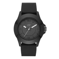Skechers Ladies' Silicone Mid Size Tonal Watch - Black