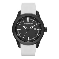 Skechers Men's Silicone Dial Watch - White/Black