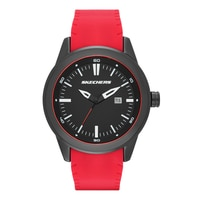 Skechers Men's Silicone Dial Watch - Red/Black