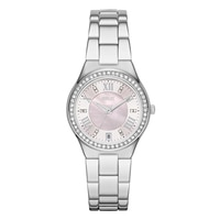 Relic Libby Mother of Pearl & Crystal Accent Ladies' Watch