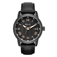 Relic Reuben Leather Strap Men's Watch