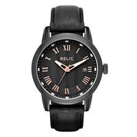 Relic Reuben Leather Strap Men's Watch